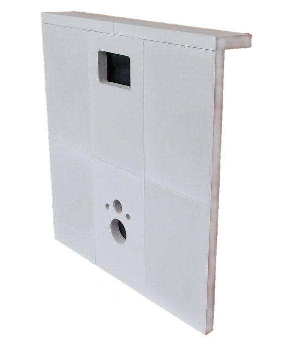 Toilet ombouw cellenbeton 1200x1250x50mm